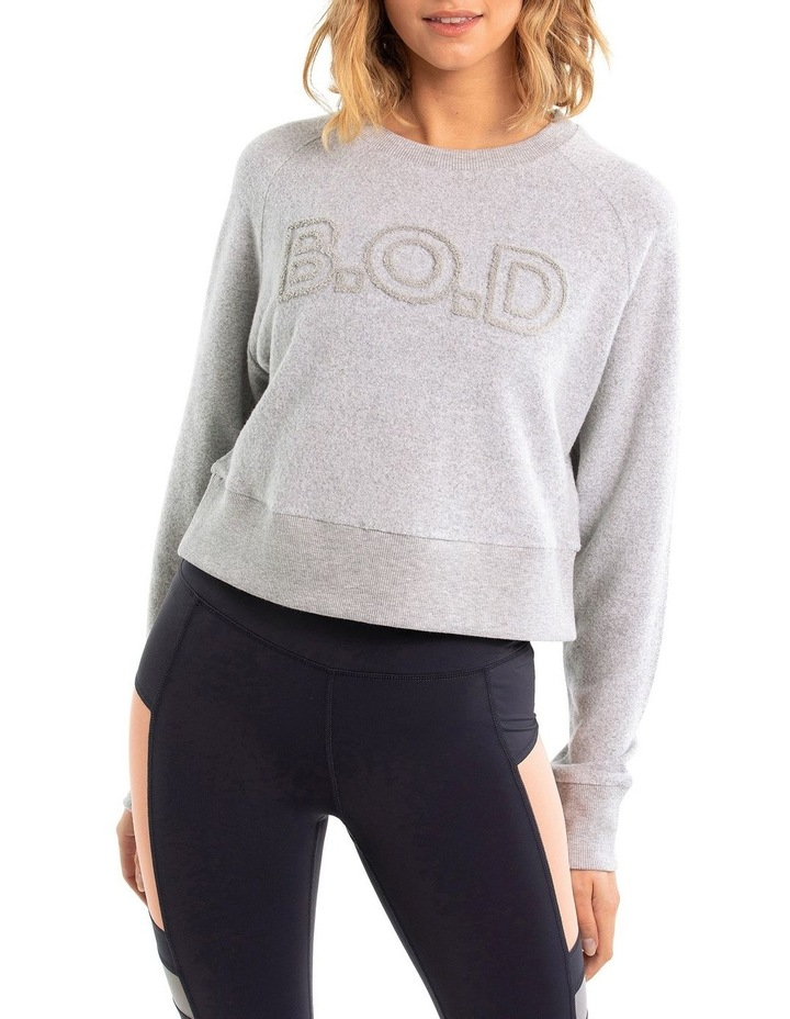 Super Soft Cropped Sweat With Boucle Logo image 1