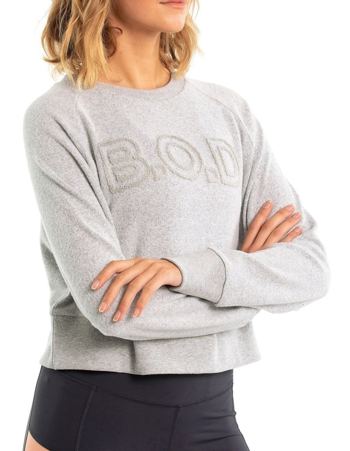 Super Soft Cropped Sweat With Boucle Logo image 3