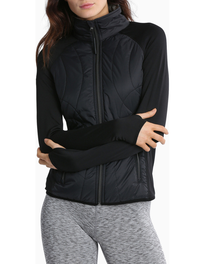 Rib Stop Quilted Jacket image 1