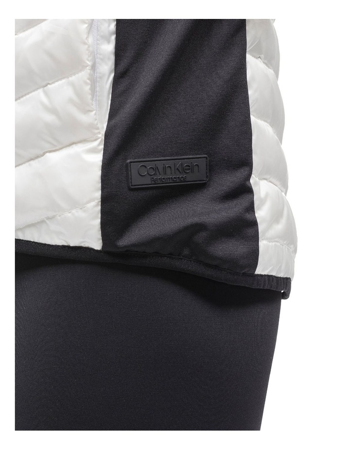 Down Fill Hi-Low Zip Vest With Knit Side Panels image 3