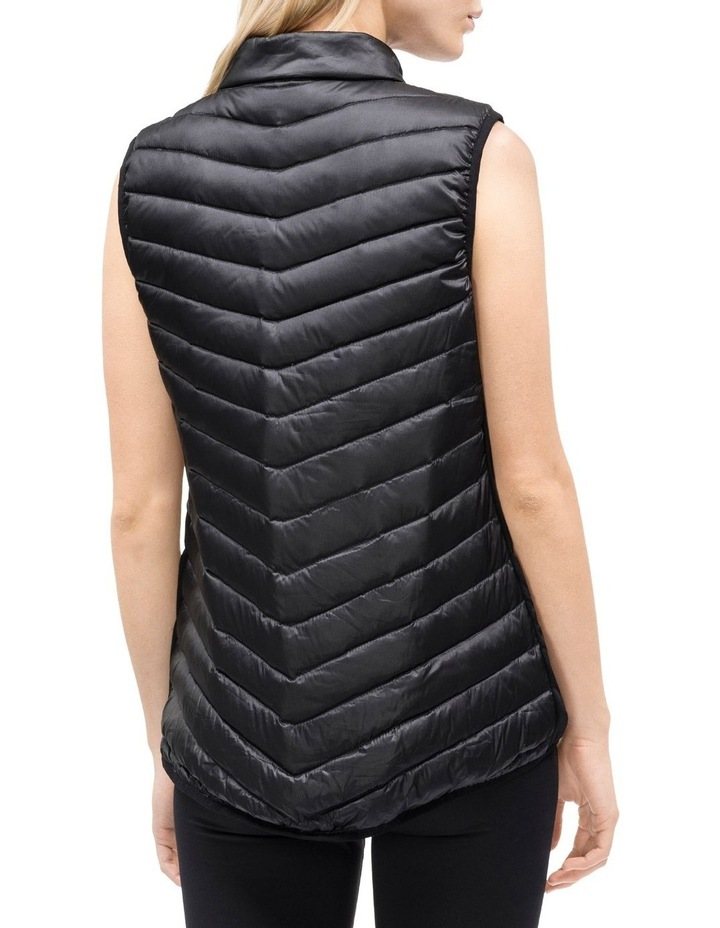 Down Fill Hi-Low Zip Vest With Knit Side Panels image 2