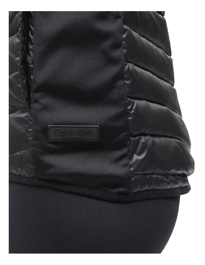 Down Fill Hi-Low Zip Vest With Knit Side Panels image 4