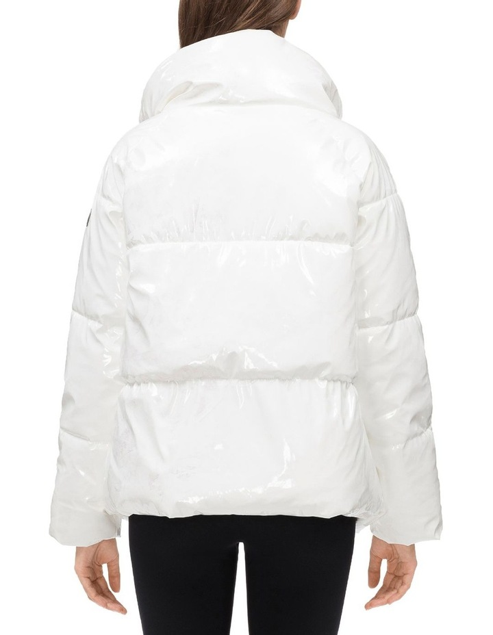 QUILTED POLYFILLED PUFFER JACKET W/OVERSIZED COLLAR image 2