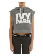 Ivy Park - Chenille Logo Crop Hoody Sleeveless