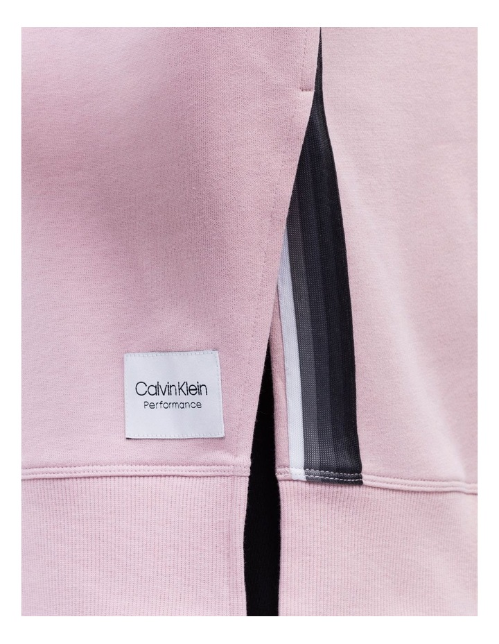 Calvin Logo Long Sleeve Side Slit Crew Neck Pullover With Ombre Tape image 3