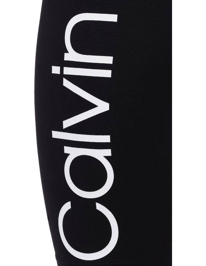 "Calvin Logo High Waist Bike Short One Pocket 9"" Inseam image 3"