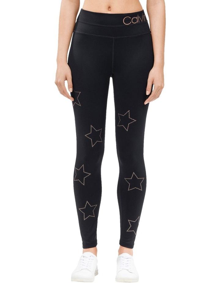 High Waist Full Length Legging with Star Stud image 1