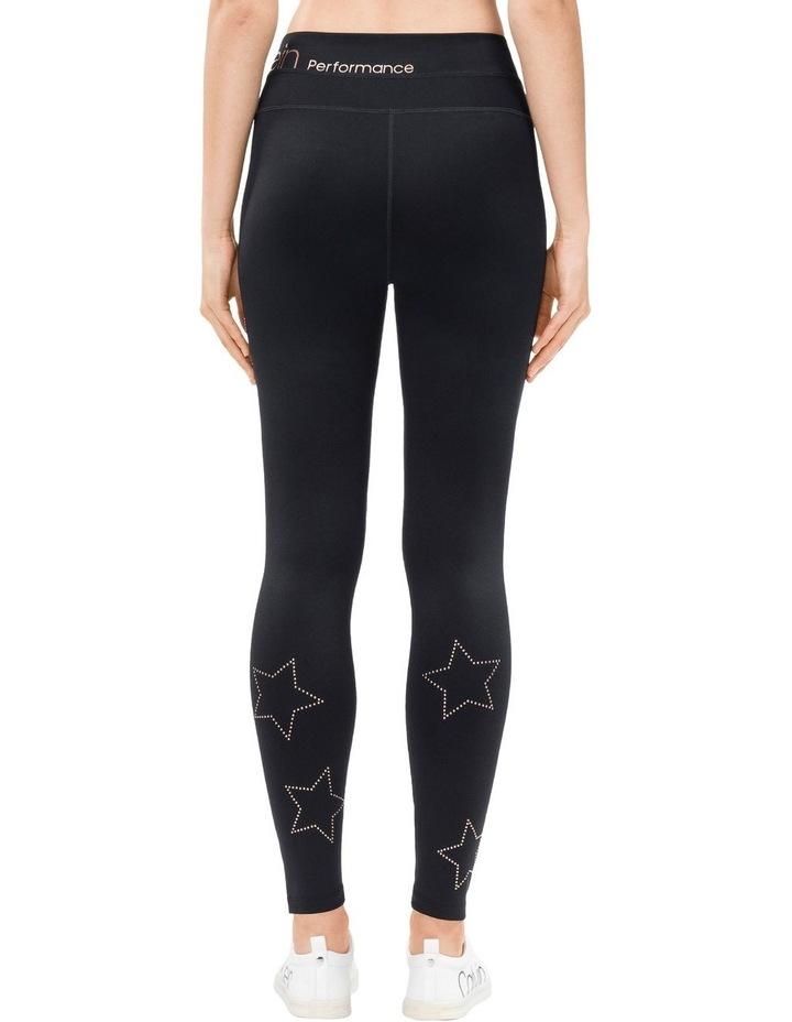High Waist Full Length Legging with Star Stud image 2