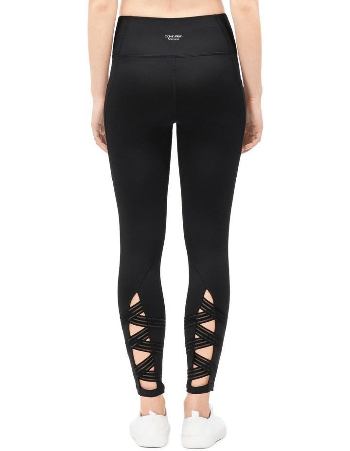 HIGH WAIST SIDE POCKET CRISS-CROSS ELASTIC 7/8 TIGHT image 2