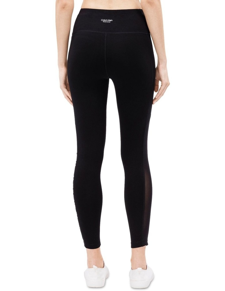 SIDE POWER MESH INSET WITH FLOCKED LOGO HIGH WAIST 7/8 LEGGING image 2