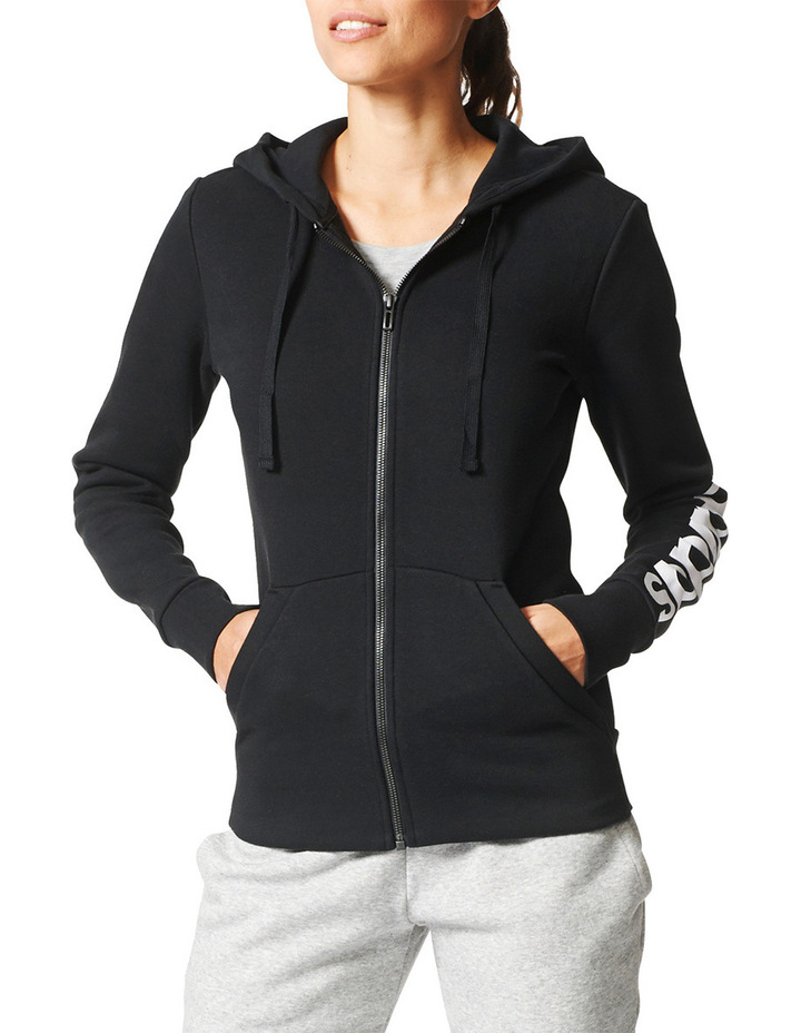 Essentials Linear Fullzip Fleece Hoodie image 1