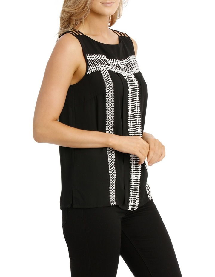 Embroidery Sleeveless Top image 2