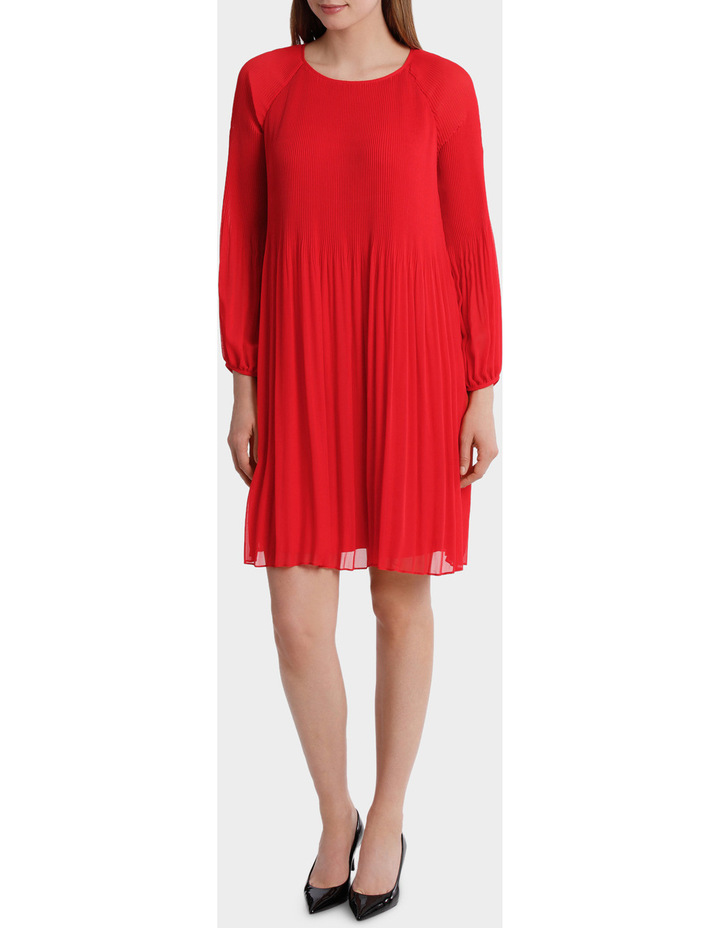 Pleated Red Dress image 1