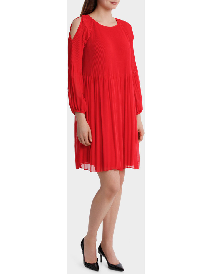 Pleated Red Dress image 2