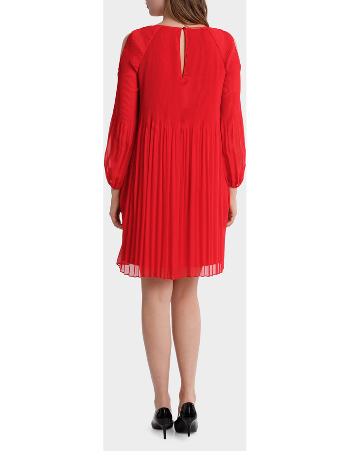 Pleated Red Dress image 3