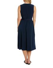 Jane Lamerton - Mock Wrap Spliced Dress