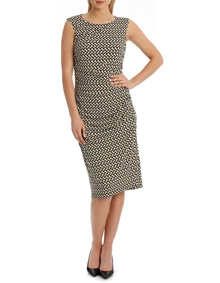 Irregular Rectangle Printed Jersey Dress image 1