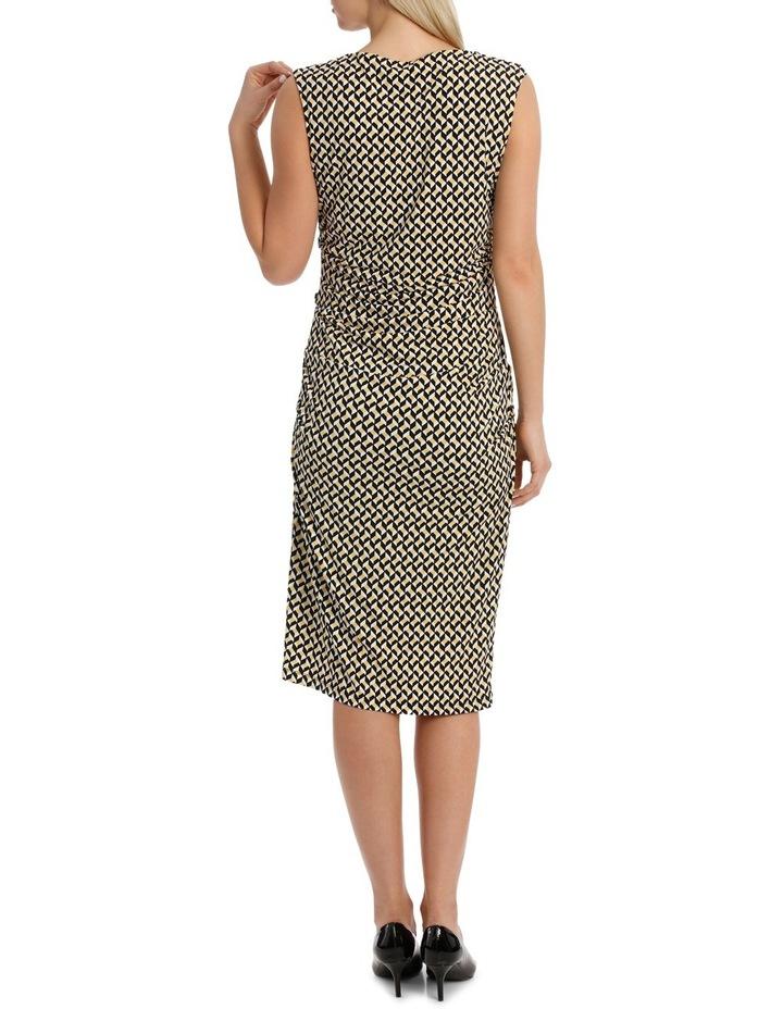 Irregular Rectangle Printed Jersey Dress image 3