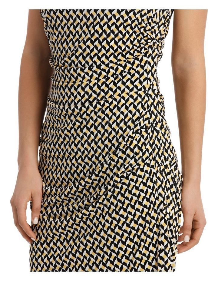 Irregular Rectangle Printed Jersey Dress image 4