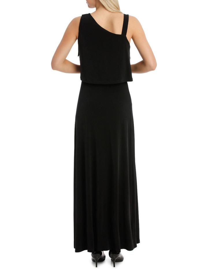 One Shoulder Black Midi Dress image 3