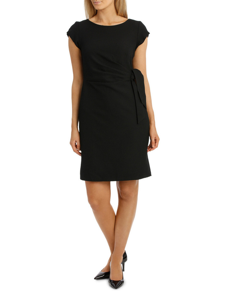 Textured Black Knit Dress image 1