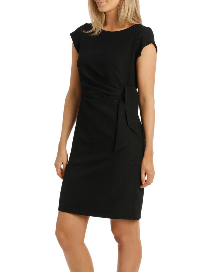 Textured Black Knit Dress image 2