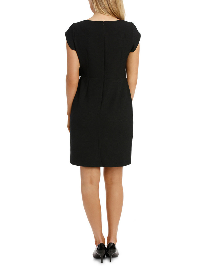 Textured Black Knit Dress image 3