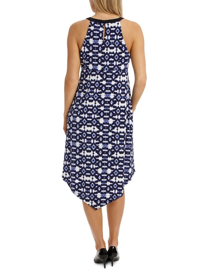 Diamond Print Cut Out Neck Midi Dress image 3