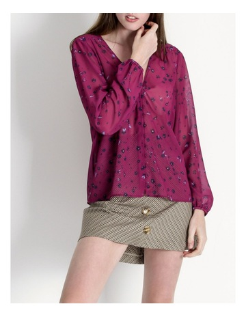 4b360d7700b Hi There From Karen Walker Magenta V Neck Top