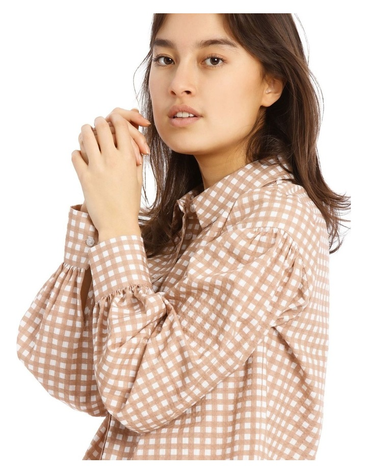 Check Long Sleeve Blouson Blouse image 4