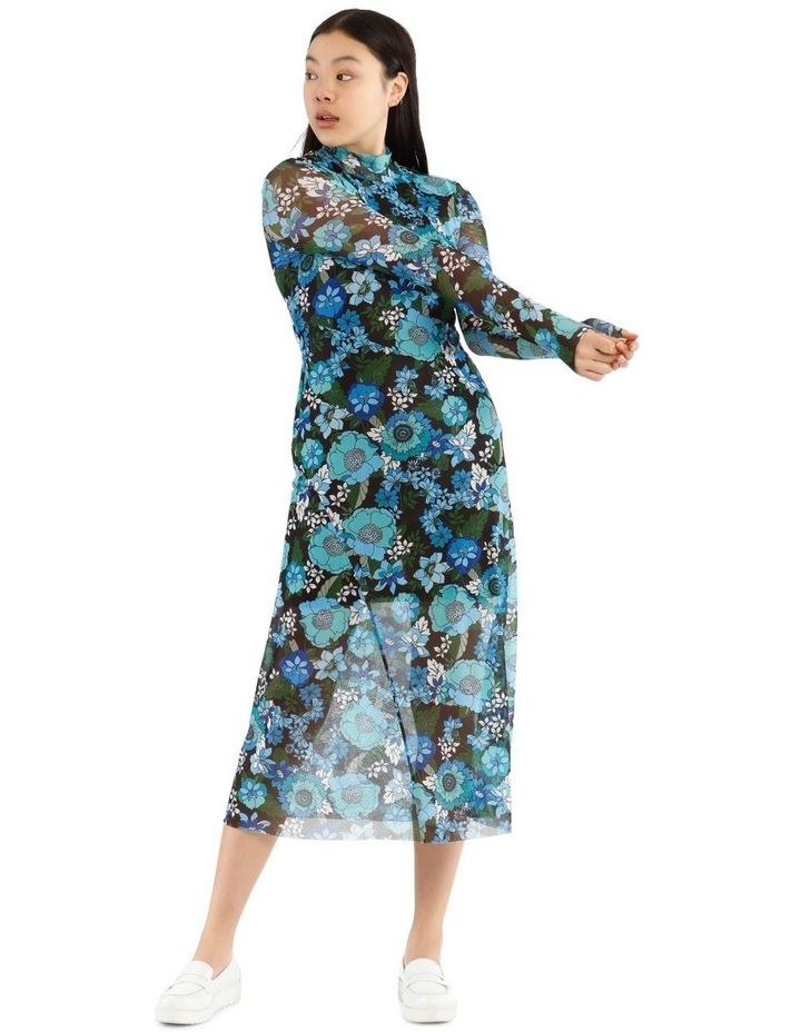 Flower Power Long Sleeve Mesh Dress image 1