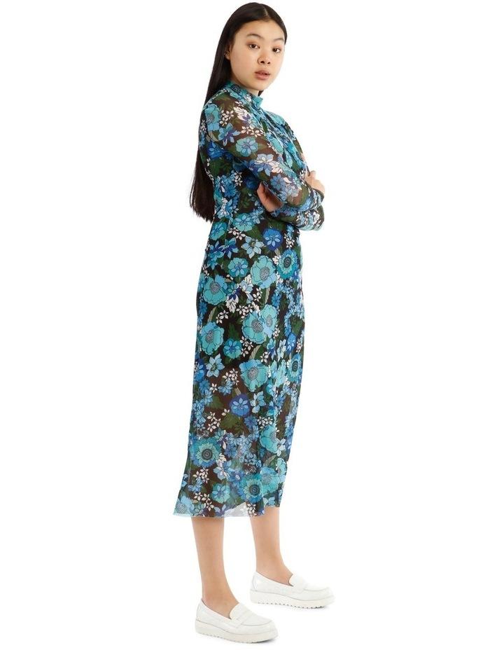 Flower Power Long Sleeve Mesh Dress image 2