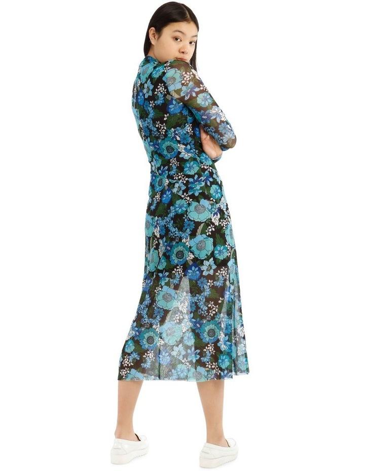 Flower Power Long Sleeve Mesh Dress image 3