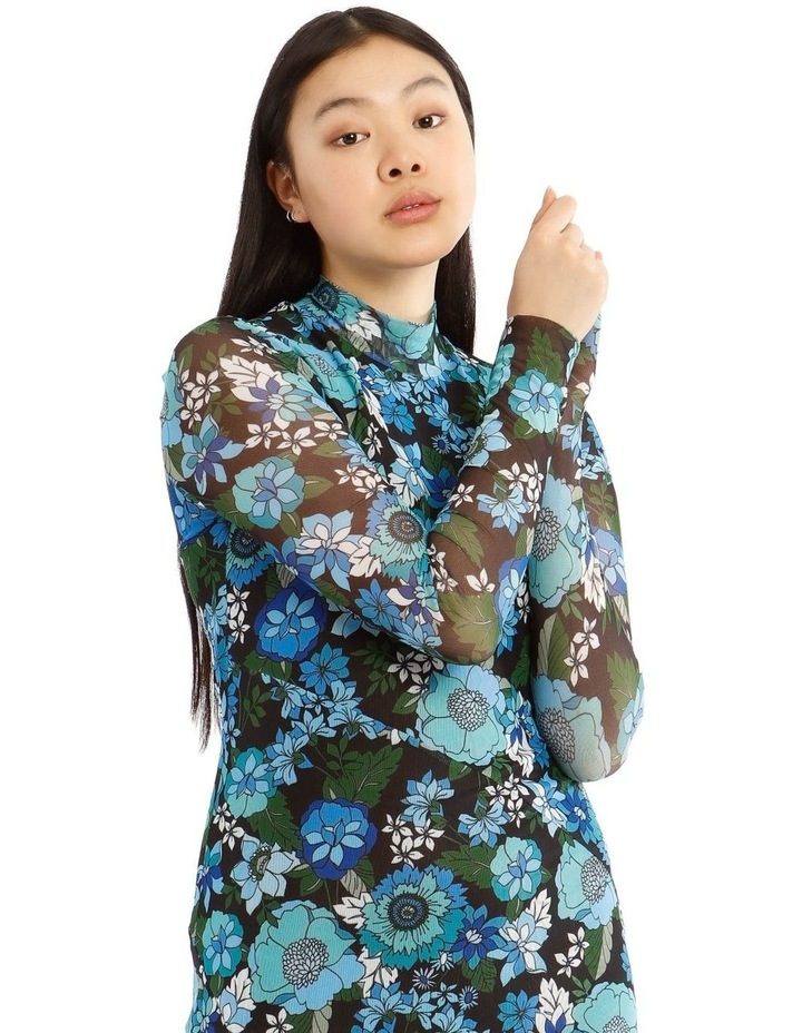 Flower Power Long Sleeve Mesh Dress image 4