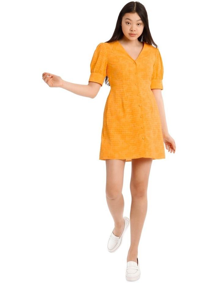 Puff Sleeve Mini Dress image 1