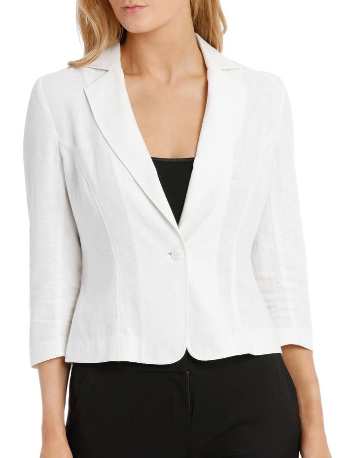 Linen Blend Casual Jacket image 1