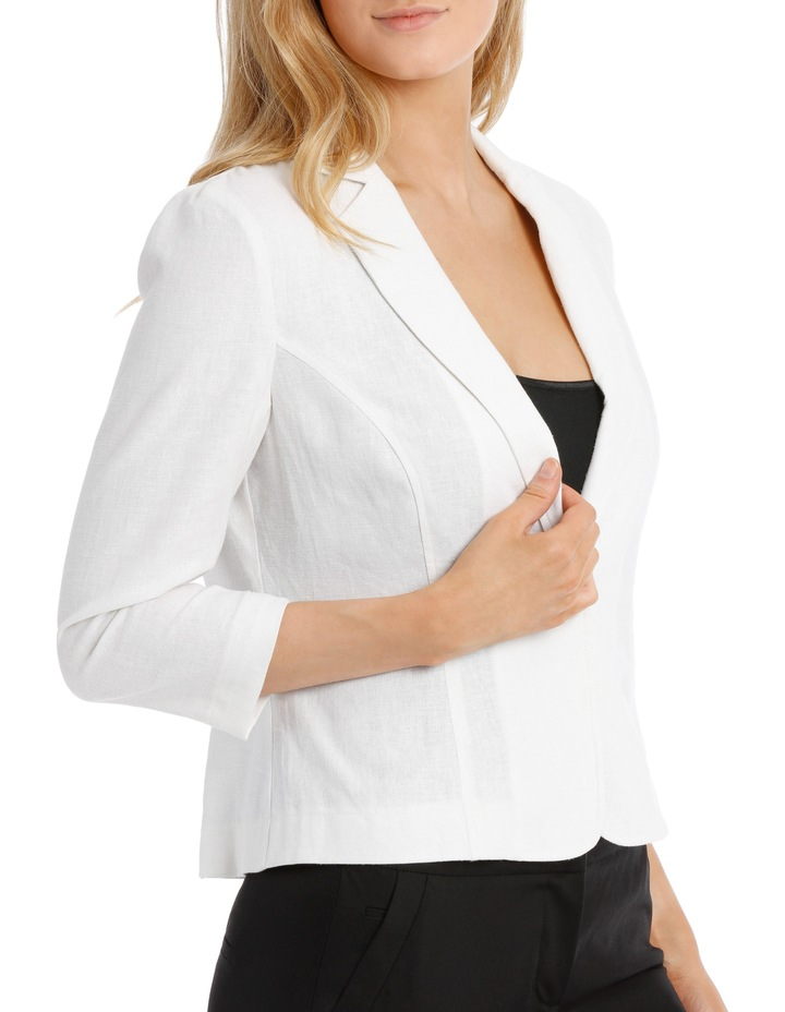 Linen Blend Casual Jacket image 2
