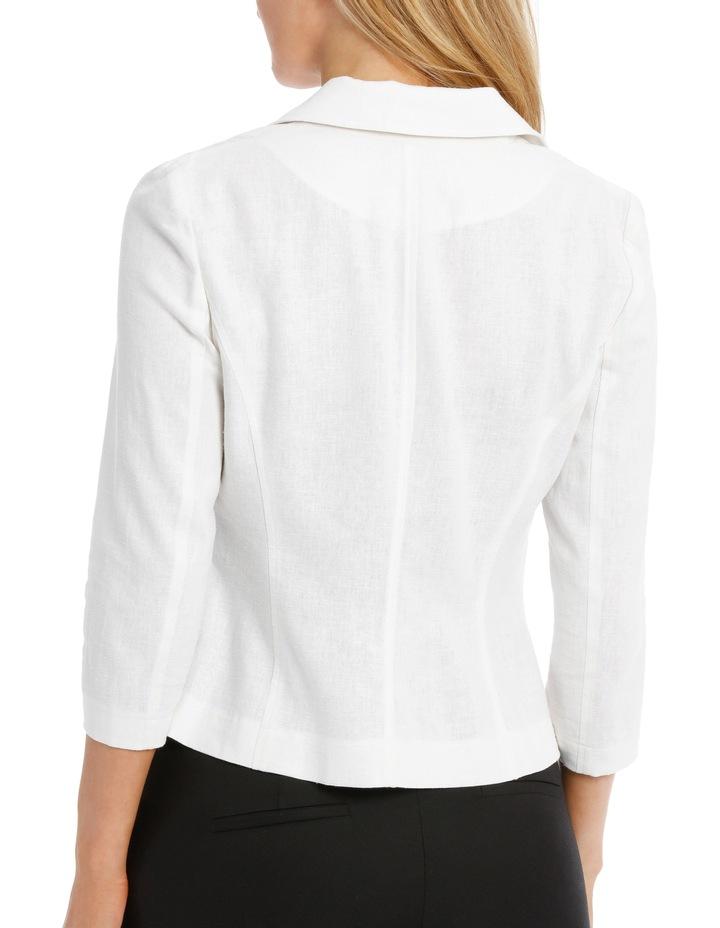 Linen Blend Casual Jacket image 3