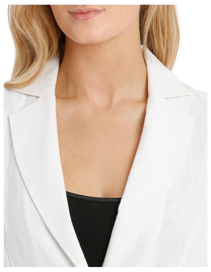 Linen Blend Casual Jacket image 4