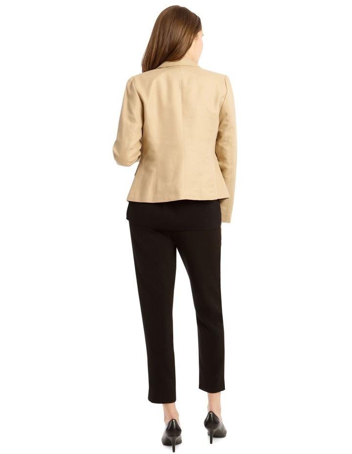 Contrast Stitch Linen Jacket image 3