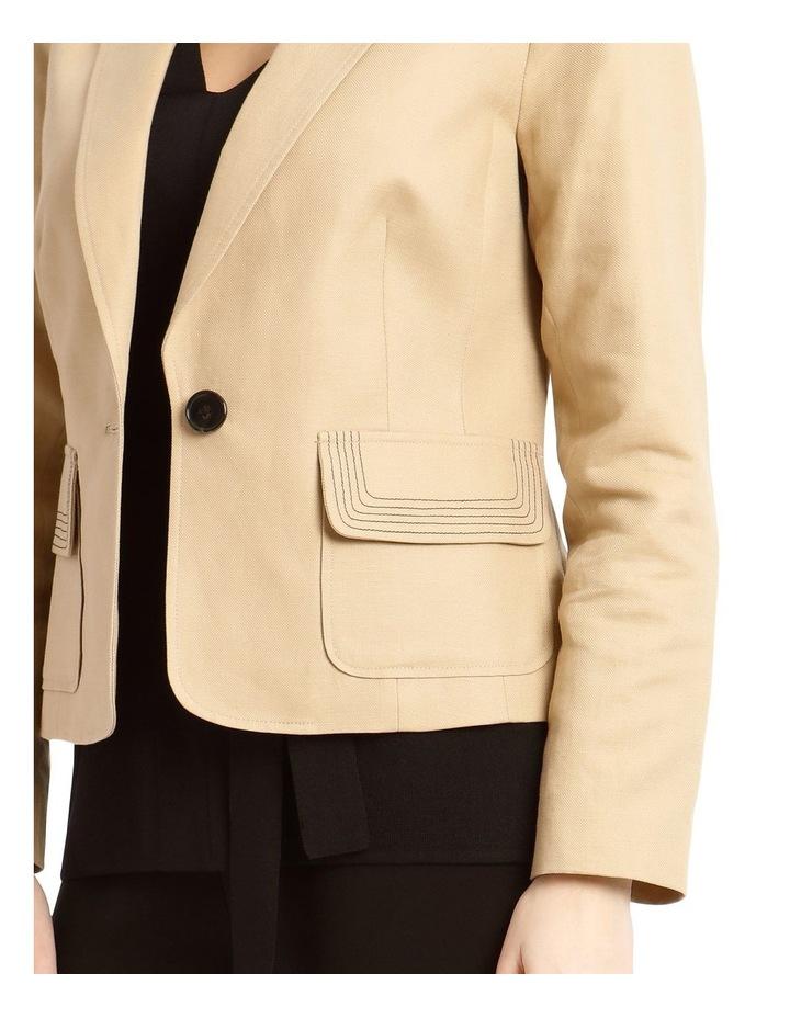Contrast Stitch Linen Jacket image 4