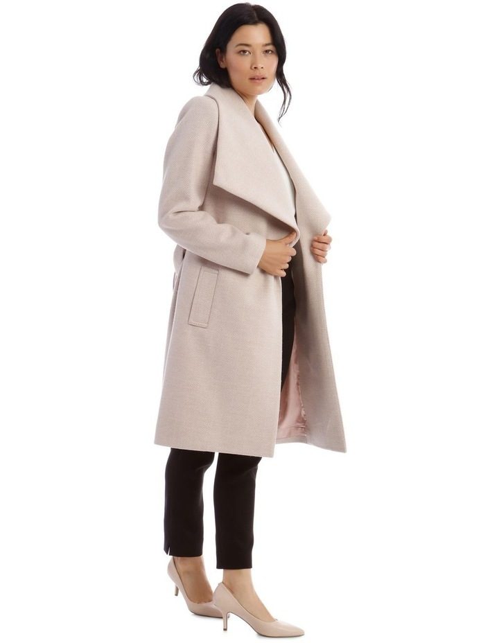 Herringbone Wrap Coat image 2