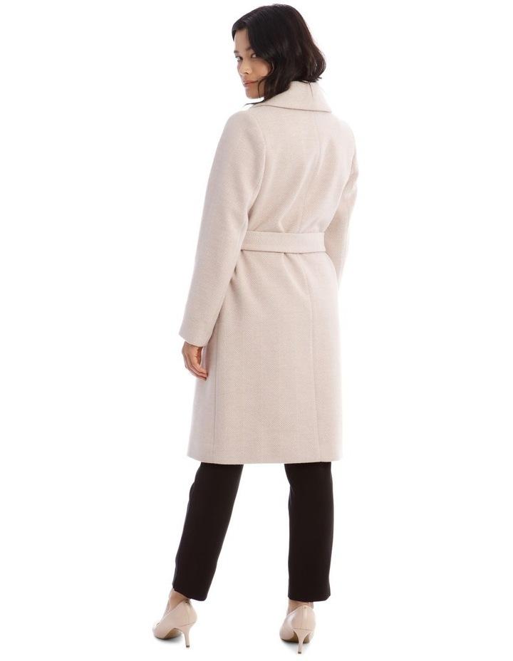Herringbone Wrap Coat image 3