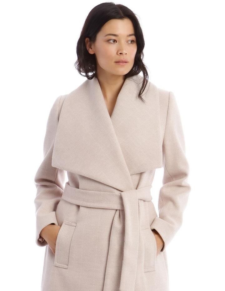 Herringbone Wrap Coat image 4