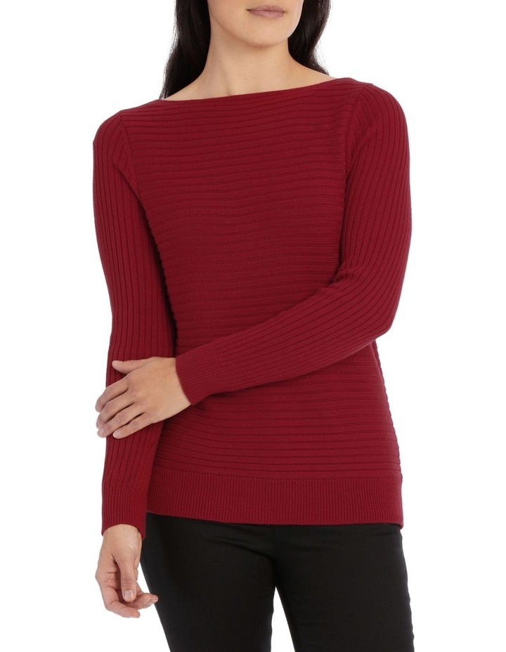 Boat Neck Ribbed Jumper image 1