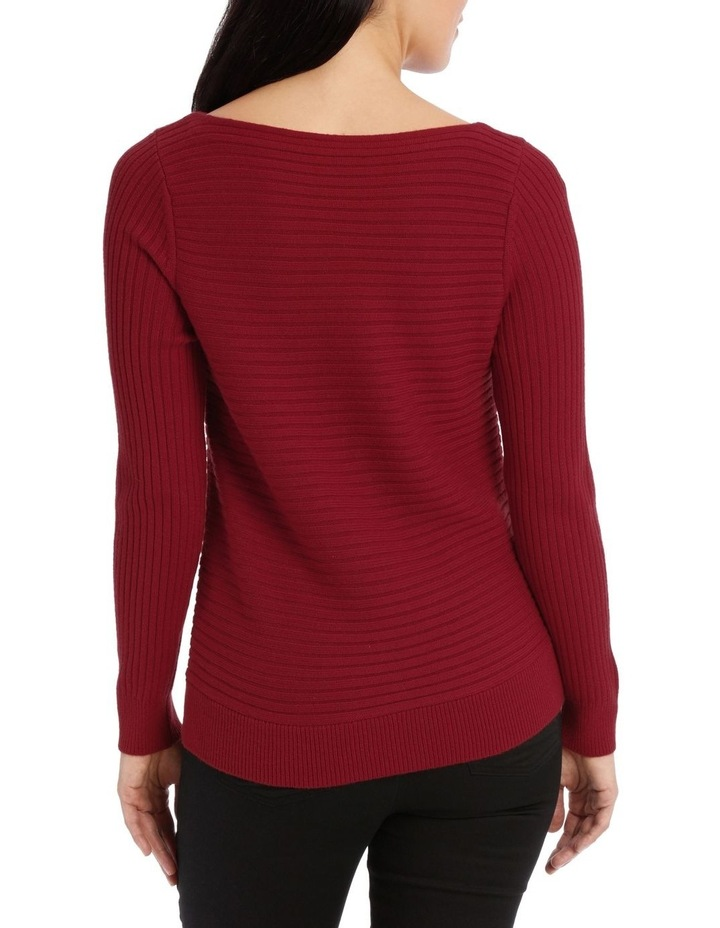 Boat Neck Ribbed Jumper image 3
