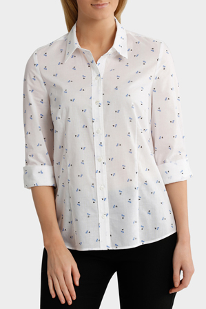 Trent Nathan - Soft Floral Catherine 3/4 Sleeve Shirt