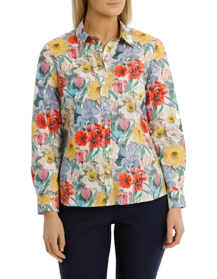 Liberty Print 3/4 Sleeve Shirt image 1