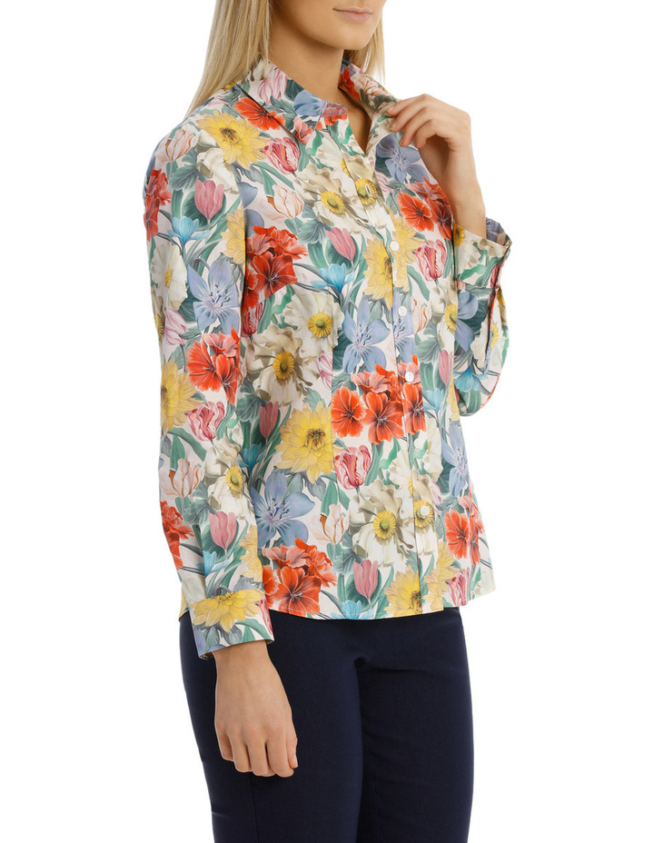 Liberty Print 3/4 Sleeve Shirt image 2