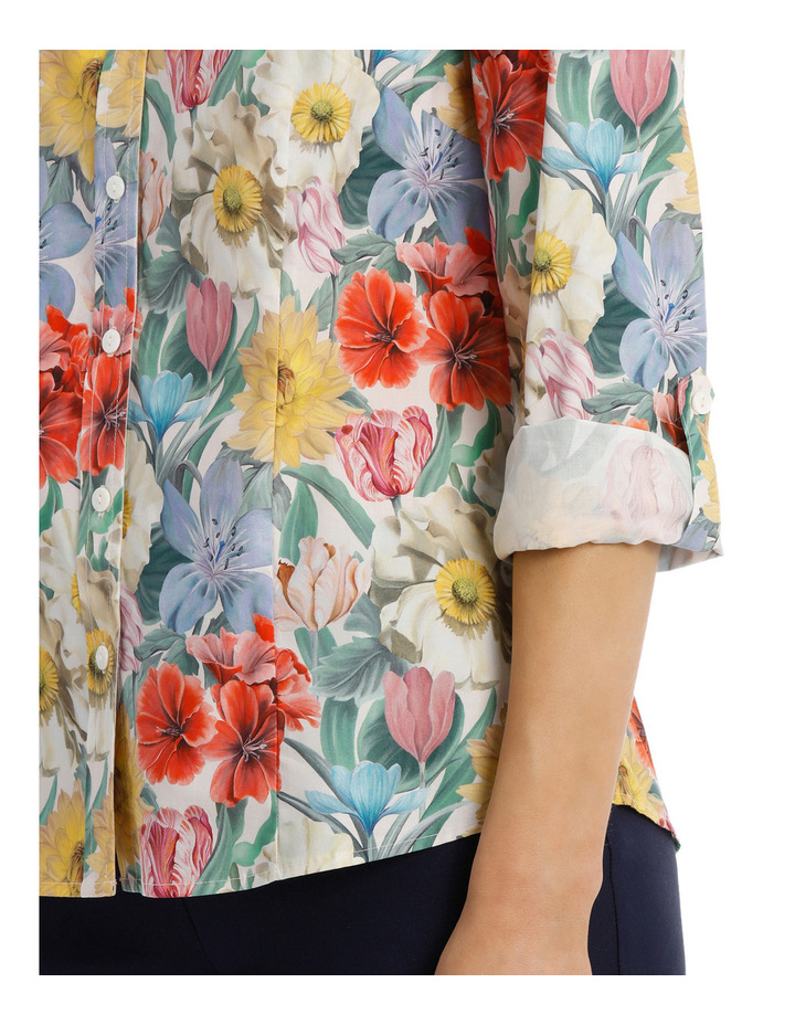 Liberty Print 3/4 Sleeve Shirt image 4